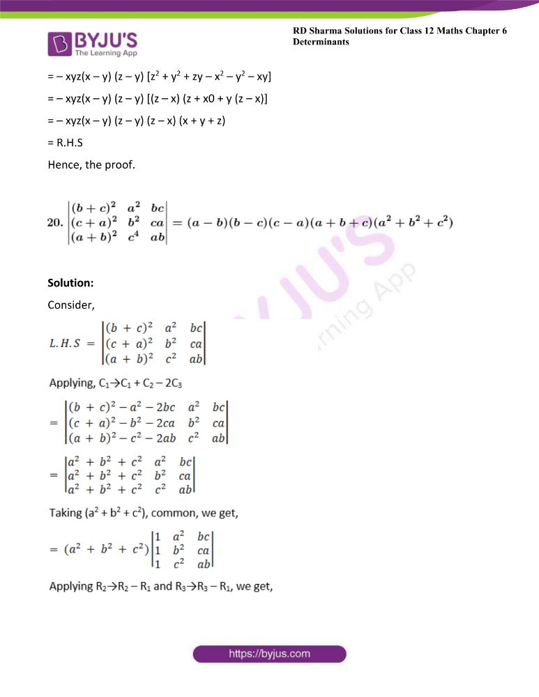 RD Sharma Class 12 Maths Solutions Chapter 6 Determinants Exercise 6.2 34
