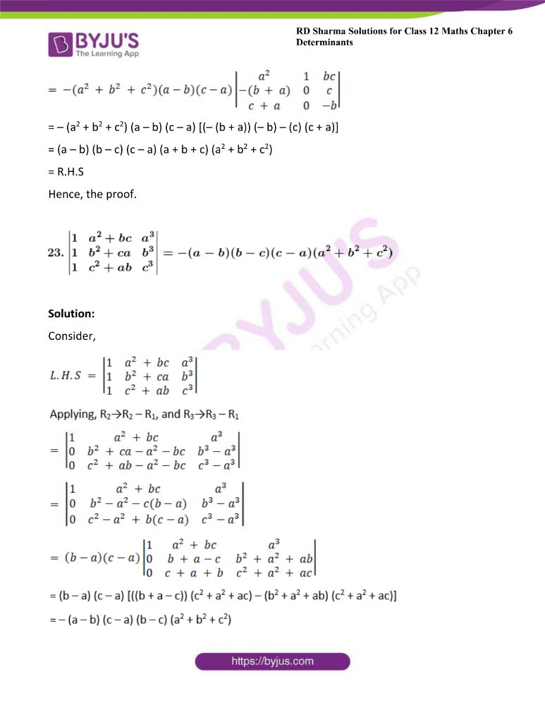 RD Sharma Class 12 Maths Solutions Chapter 6 Determinants Exercise 6.2 37