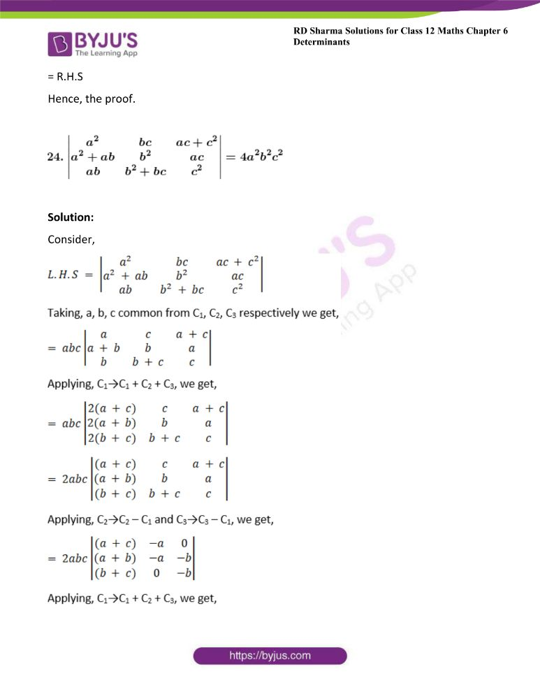 RD Sharma Class 12 Maths Solutions Chapter 6 Determinants Exercise 6.2 38