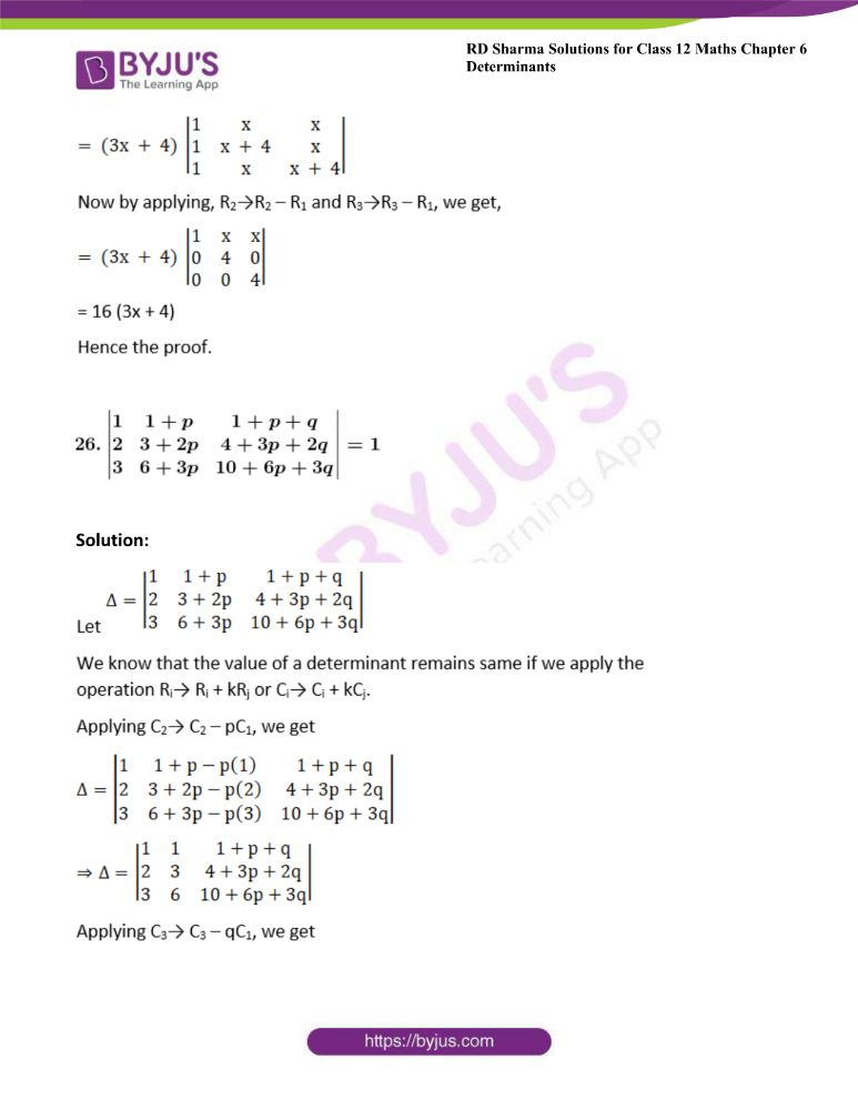 RD Sharma Class 12 Maths Solutions Chapter 6 Determinants Exercise 6.2 40