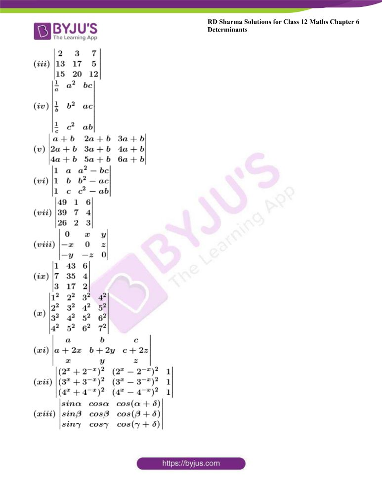 RD Sharma Class 12 Maths Solutions Chapter 6 Determinants Exercise 6.2 6