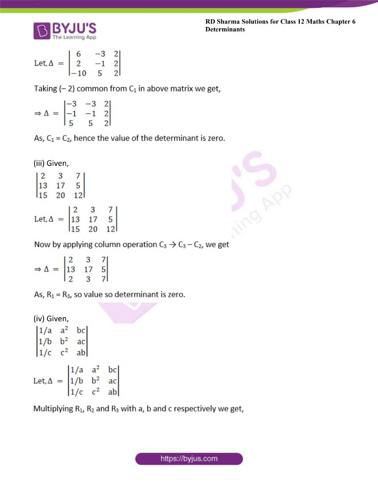 RD Sharma Class 12 Maths Solutions Chapter 6 Determinants Exercise 6.2 8