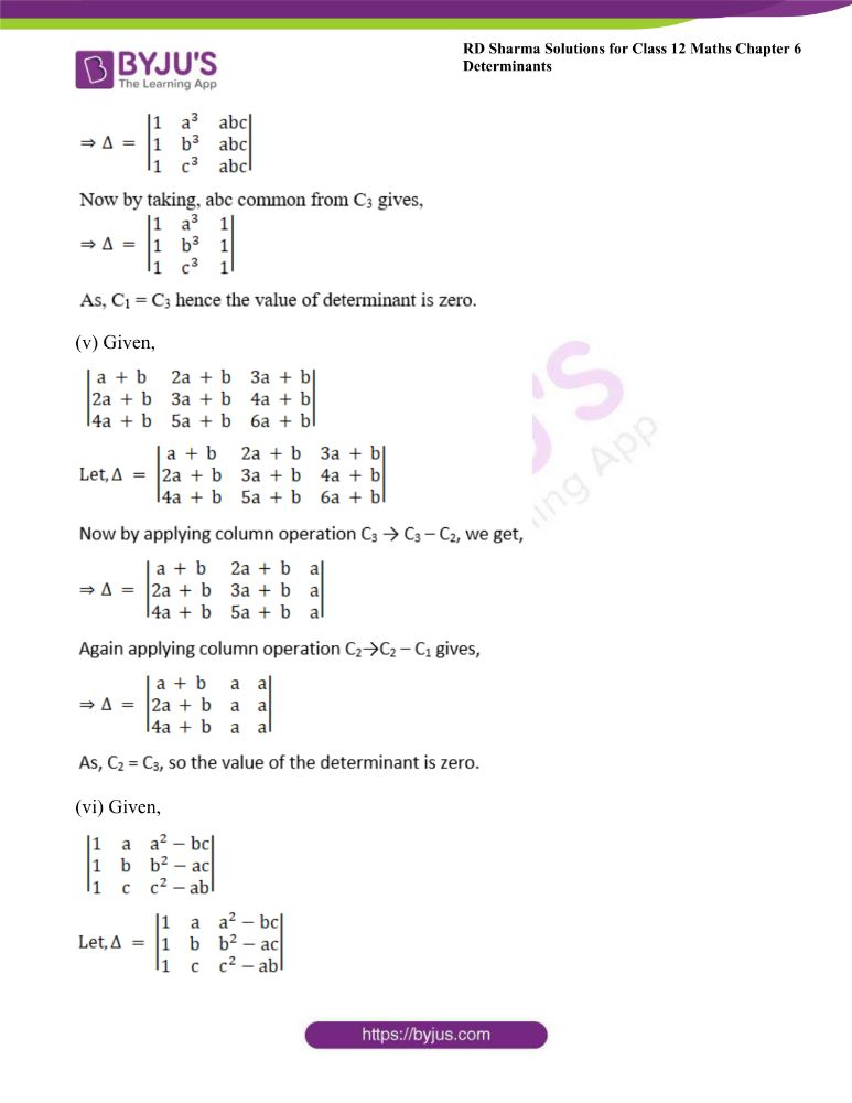 RD Sharma Class 12 Maths Solutions Chapter 6 Determinants Exercise 6.2 9