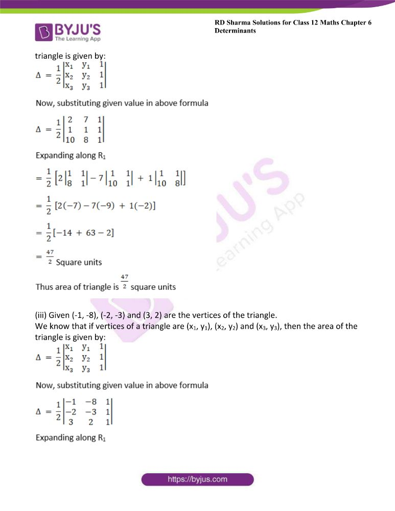RD Sharma Class 12 Maths Solutions Chapter 6 Determinants Exercise 6.3 1