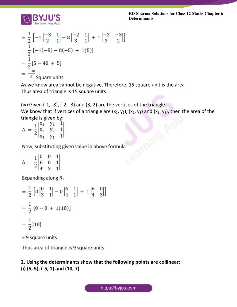 RD Sharma Class 12 Maths Solutions Chapter 6 Determinants Exercise 6.3 2