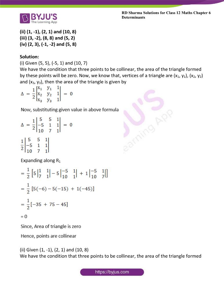 RD Sharma Class 12 Maths Solutions Chapter 6 Determinants Exercise 6.3 3