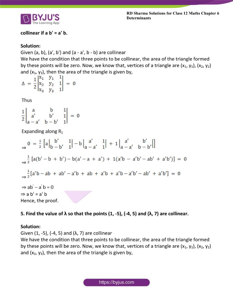 RD Sharma Class 12 Maths Solutions Chapter 6 Determinants Exercise 6.3 7