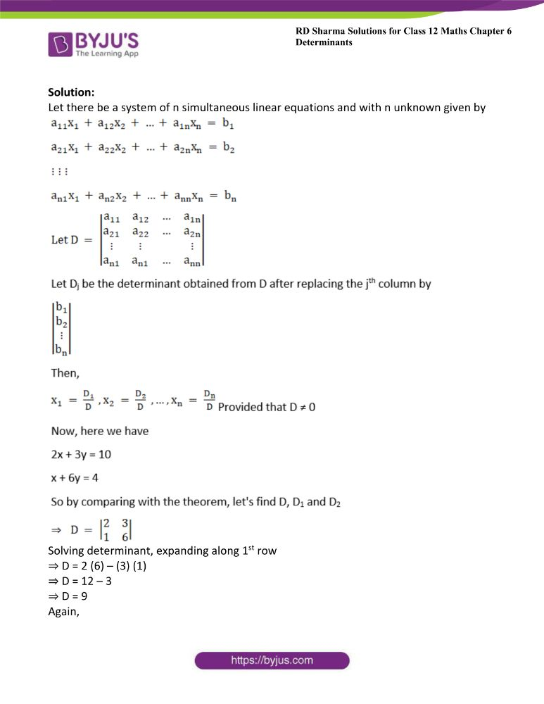 RD Sharma Class 12 Maths Solutions Chapter 6 Determinants Exercise 6.4 10