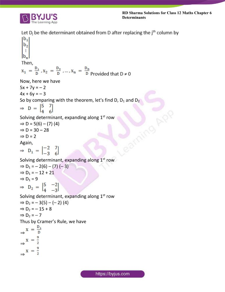 RD Sharma Class 12 Maths Solutions Chapter 6 Determinants Exercise 6.4 12