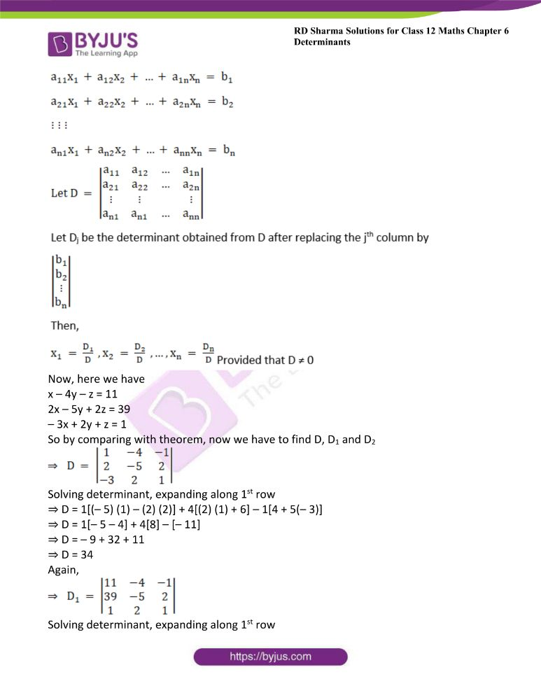 RD Sharma Class 12 Maths Solutions Chapter 6 Determinants Exercise 6.4 19