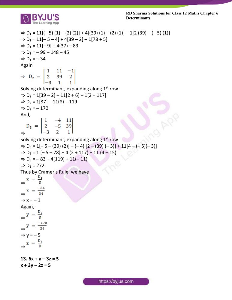 RD Sharma Class 12 Maths Solutions Chapter 6 Determinants Exercise 6.4 20