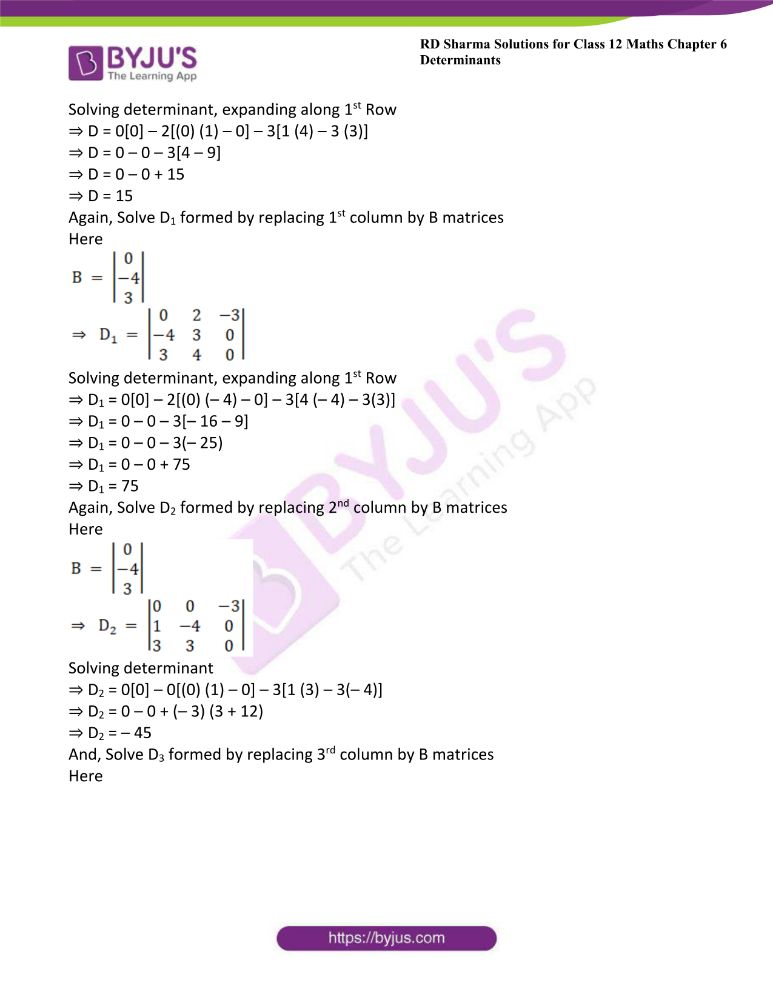 RD Sharma Class 12 Maths Solutions Chapter 6 Determinants Exercise 6.4 27