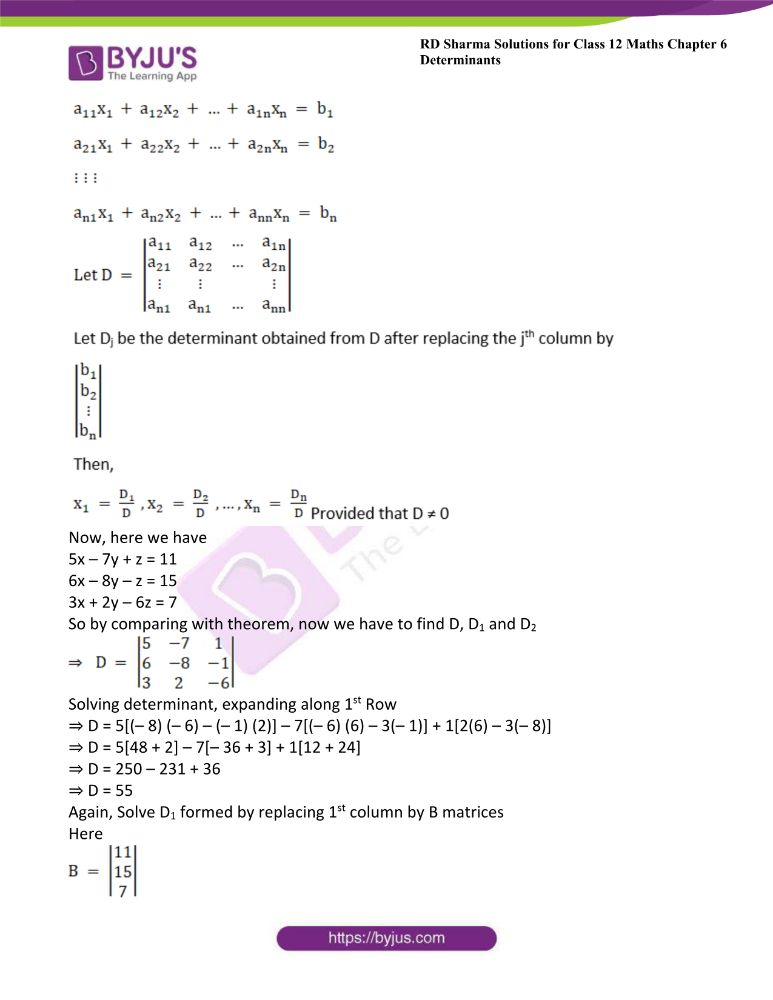 RD Sharma Class 12 Maths Solutions Chapter 6 Determinants Exercise 6.4 29