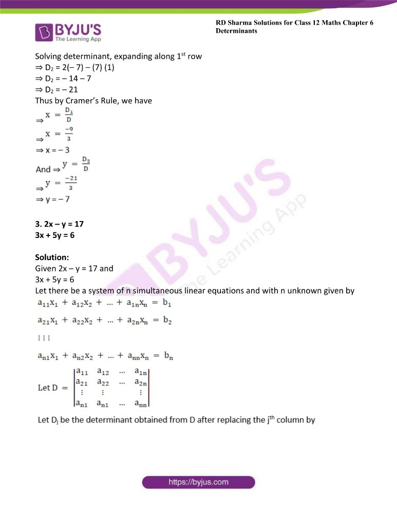 RD Sharma Class 12 Maths Solutions Chapter 6 Determinants Exercise 6.4 3
