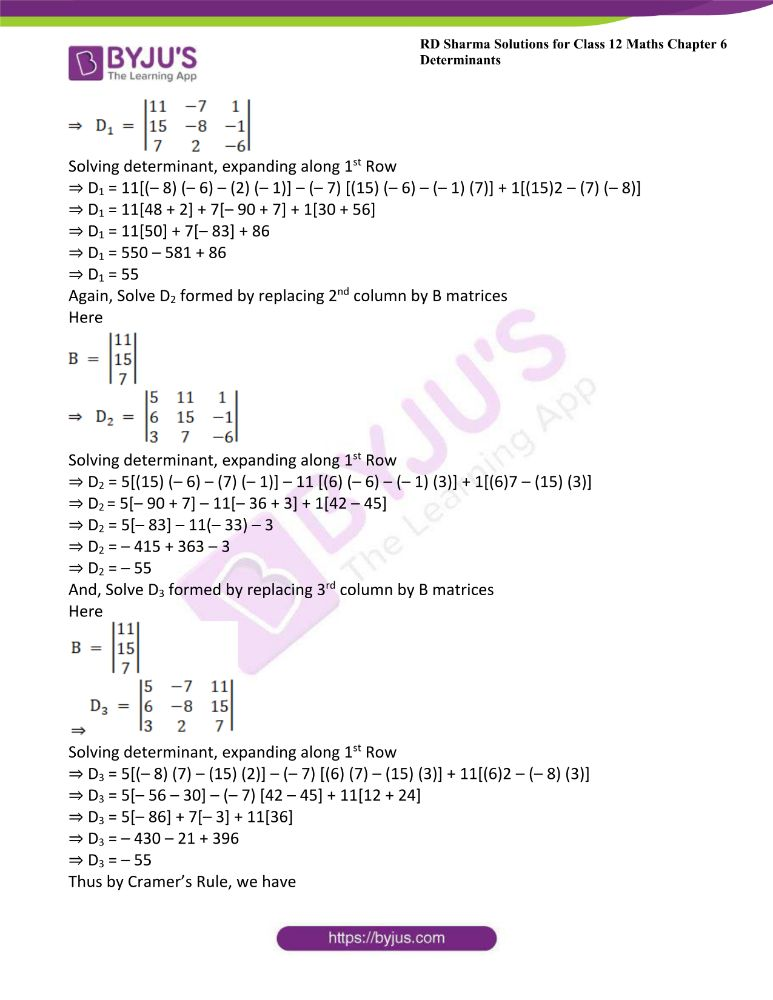 RD Sharma Class 12 Maths Solutions Chapter 6 Determinants Exercise 6.4 30