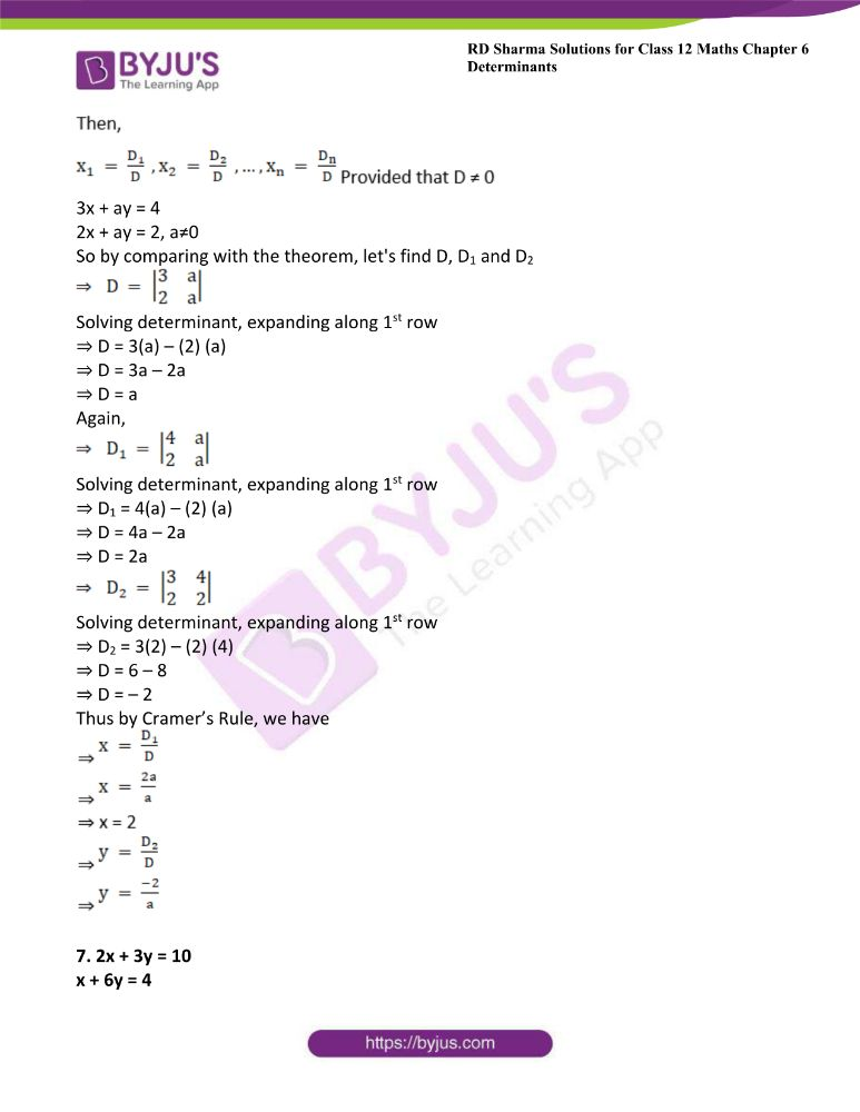 RD Sharma Class 12 Maths Solutions Chapter 6 Determinants Exercise 6.4 9