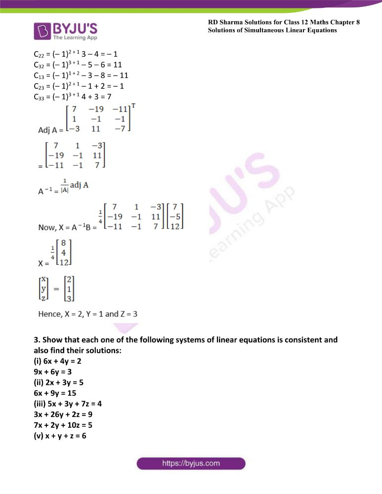 RD Sharma Class 12 Maths Solutions Chapter 8 Solutions Of Simultaneous Linear Equations 28