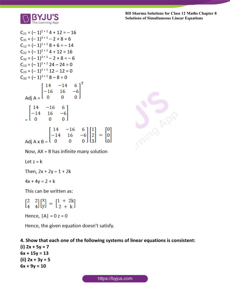 RD Sharma Class 12 Maths Solutions Chapter 8 Solutions Of Simultaneous Linear Equations 35