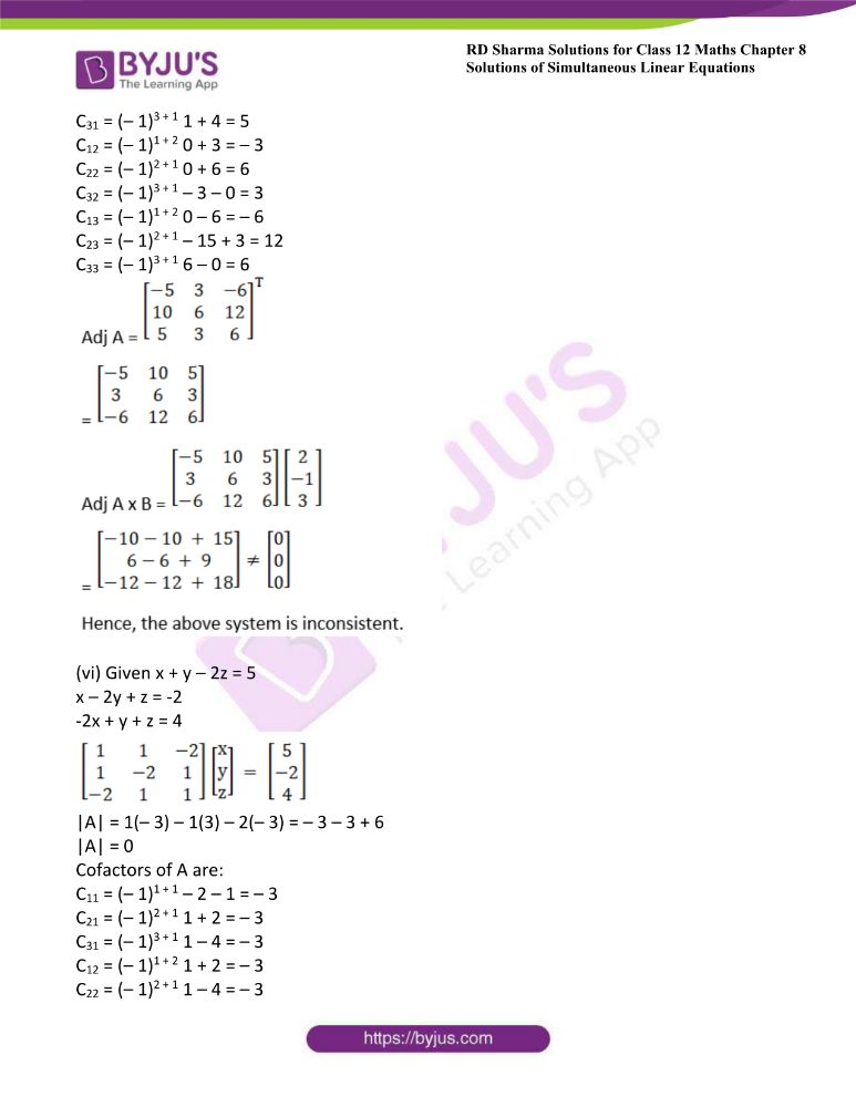 RD Sharma Class 12 Maths Solutions Chapter 8 Solutions Of Simultaneous Linear Equations 40