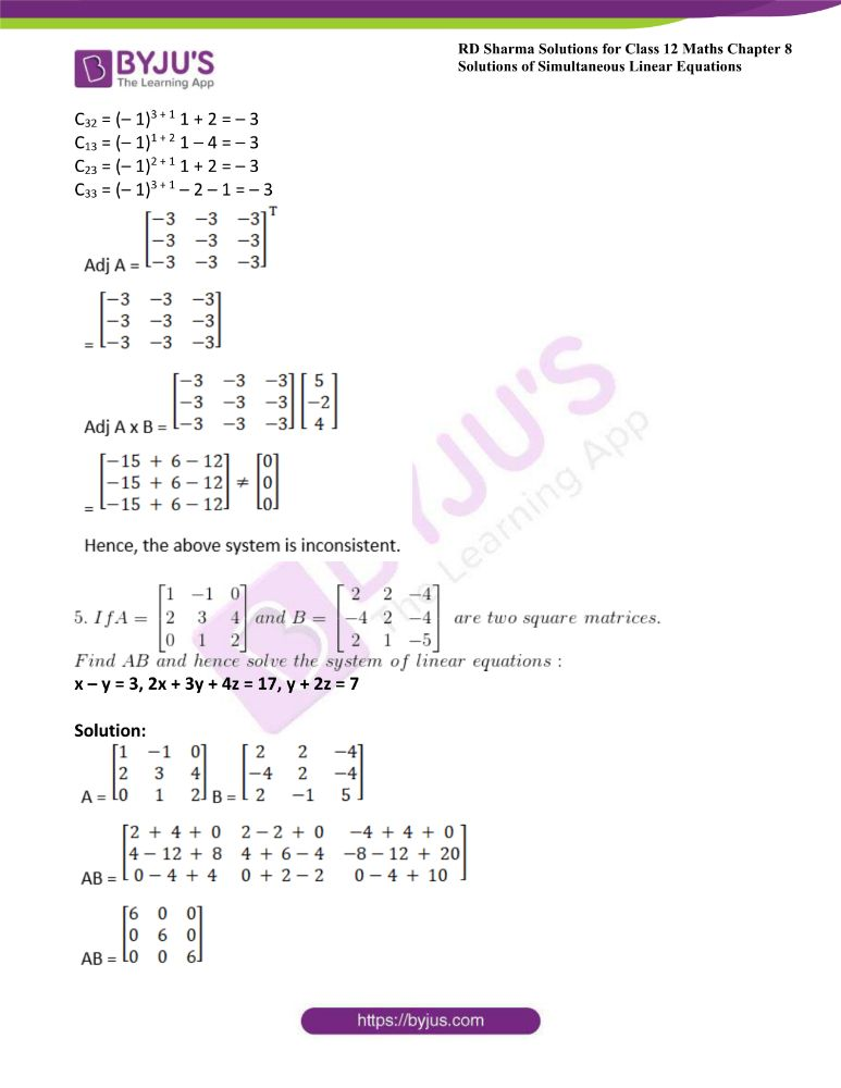 RD Sharma Class 12 Maths Solutions Chapter 8 Solutions Of Simultaneous Linear Equations 41