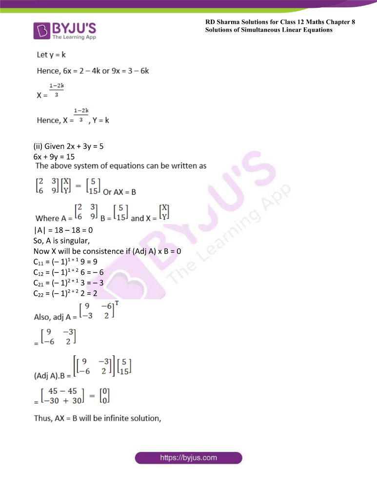 RD Sharma Class 12 Maths Solutions Chapter 8 Solutions Of Simultaneous Linear Equations Ex8.1 30