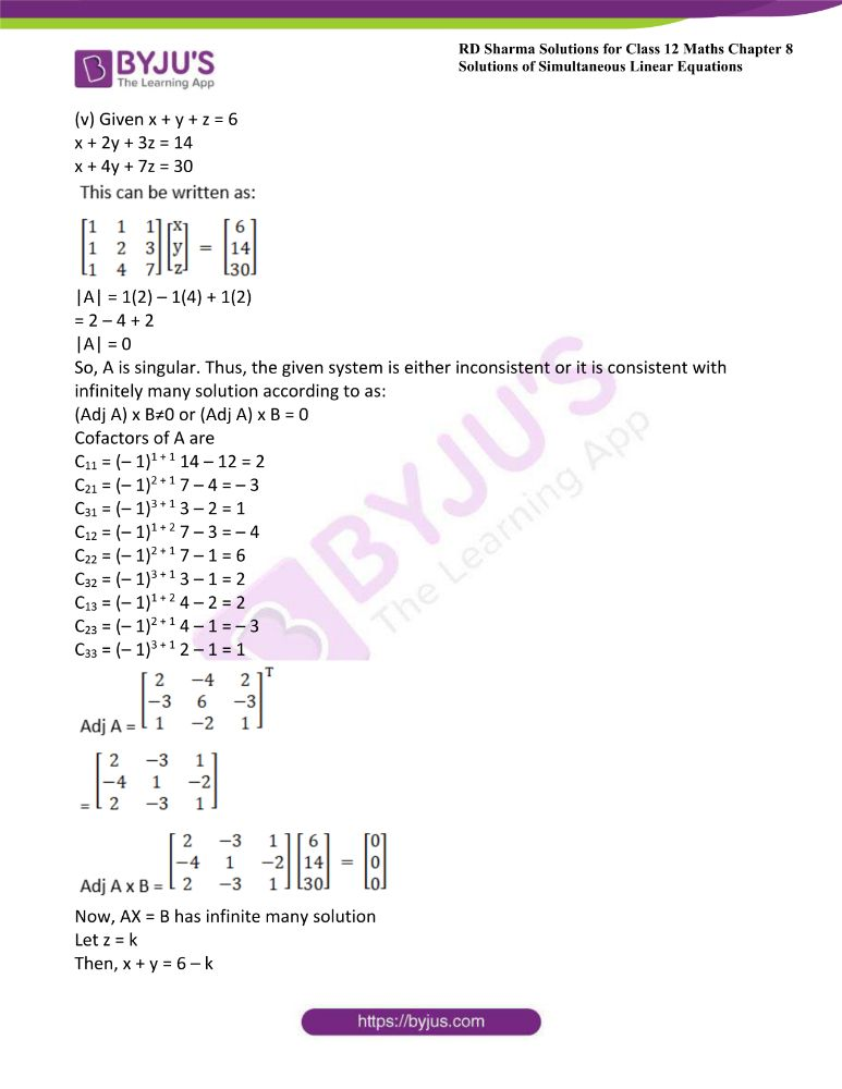 RD Sharma Class 12 Maths Solutions Chapter 8 Solutions Of Simultaneous Linear Equations Ex8.1 33