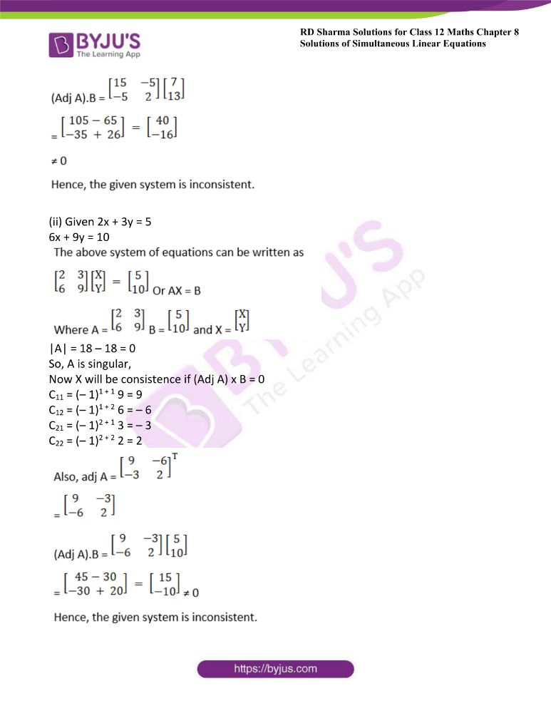 RD Sharma Class 12 Maths Solutions Chapter 8 Solutions Of Simultaneous Linear Equations Ex8.1 37