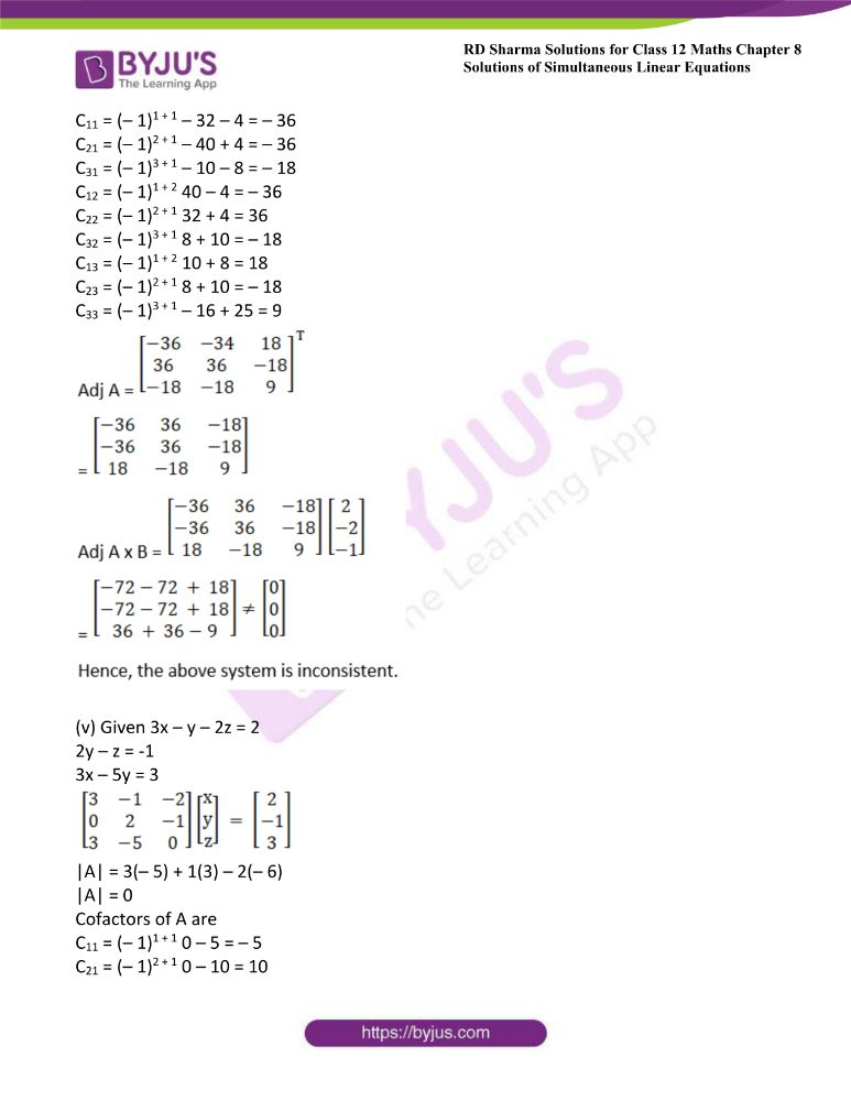 RD Sharma Class 12 Maths Solutions Chapter 8 Solutions Of Simultaneous Linear Equations Ex8.1 39