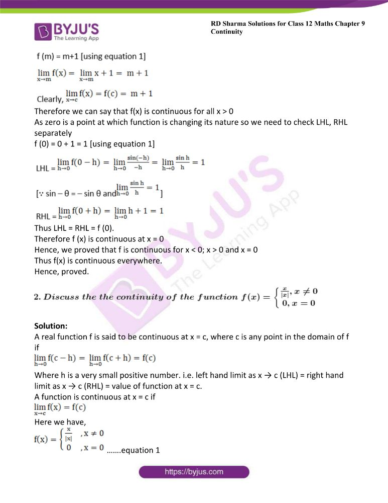 RD Sharma Class 12 Maths Solutions Chapter 9 Continuity 28