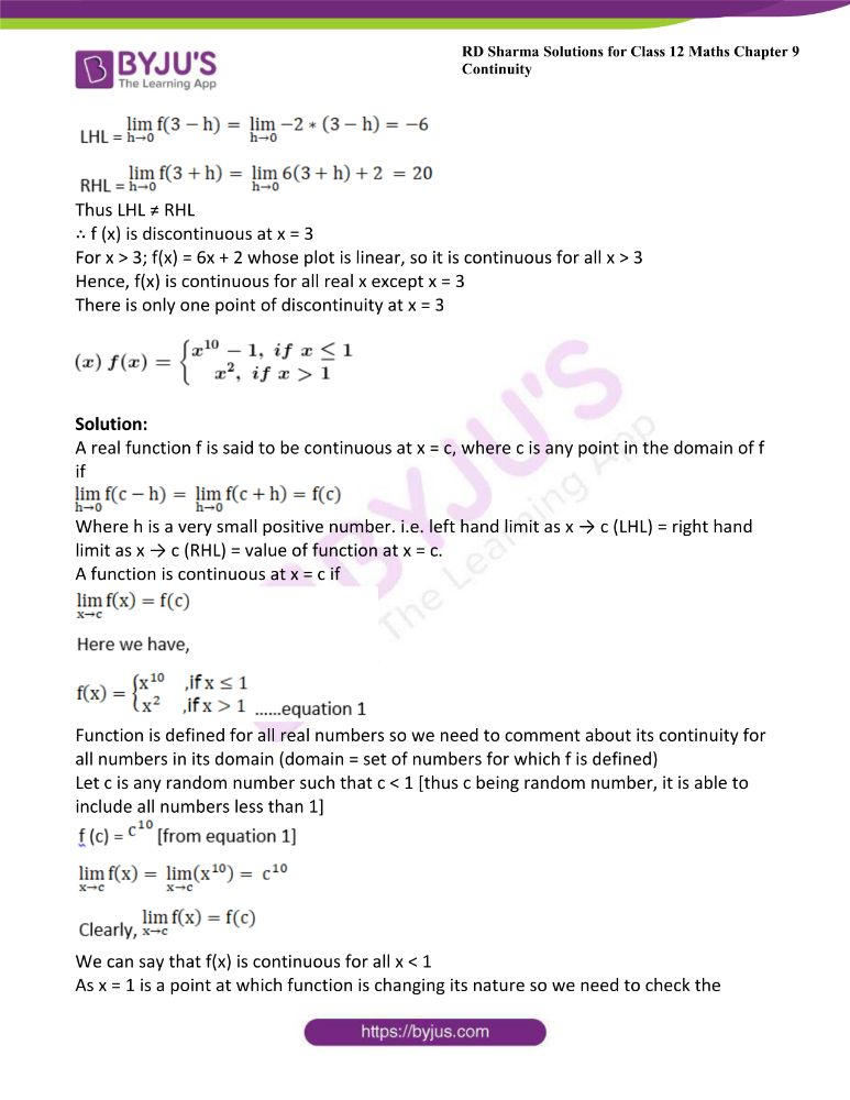 RD Sharma Class 12 Maths Solutions Chapter 9 Continuity 42