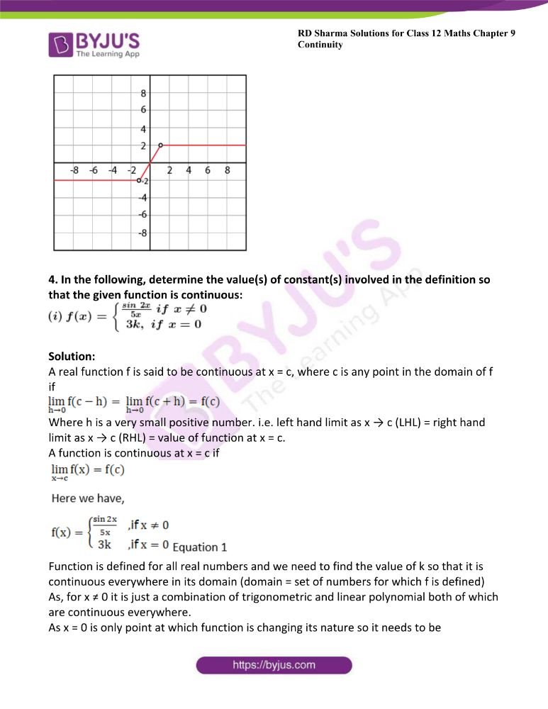 RD Sharma Class 12 Maths Solutions Chapter 9 Continuity 48