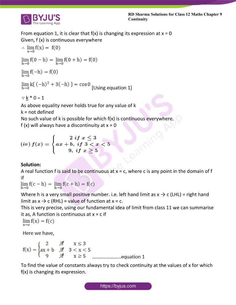 RD Sharma Class 12 Maths Solutions Chapter 9 Continuity 51