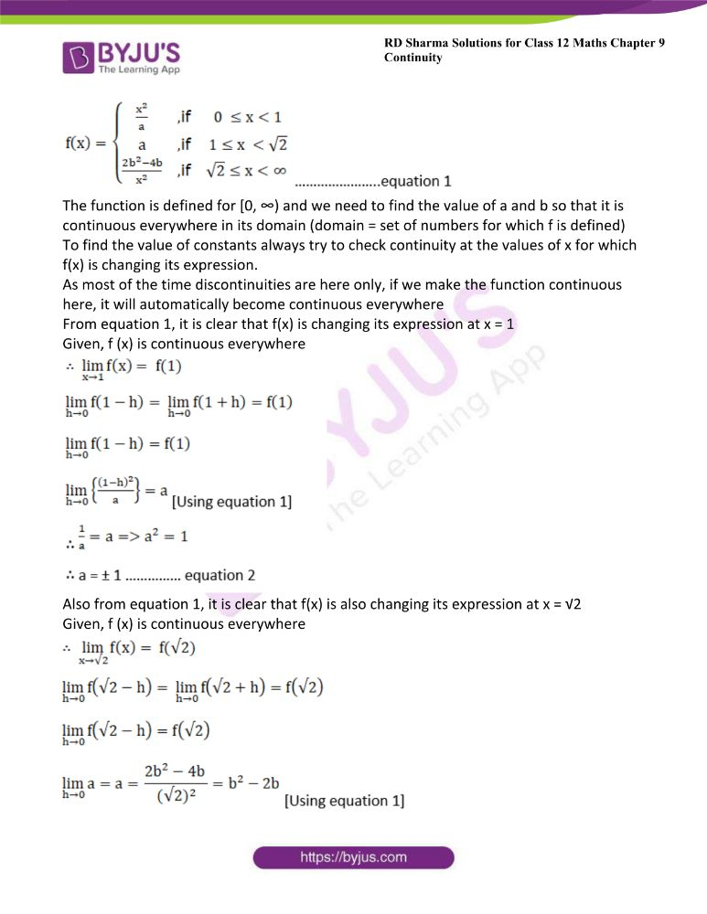 RD Sharma Class 12 Maths Solutions Chapter 9 Continuity 59