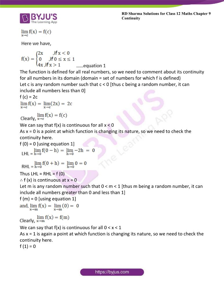 RD Sharma Class 12 Maths Solutions Chapter 9 Continuity Exercise 9.2 17