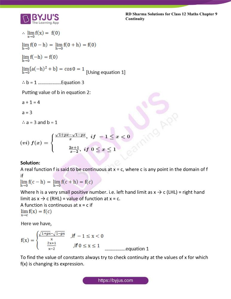RD Sharma Class 12 Maths Solutions Chapter 9 Continuity Exercise 9.2 27