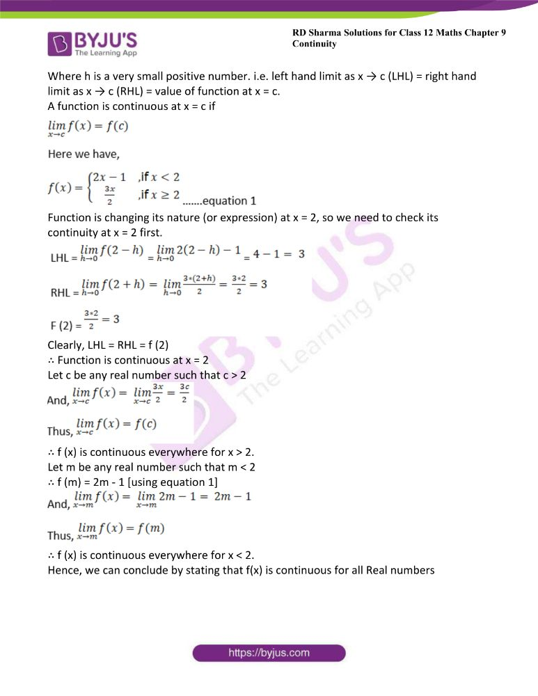 RD Sharma Class 12 Maths Solutions Chapter 9 Continuity Exercise 9.2 38