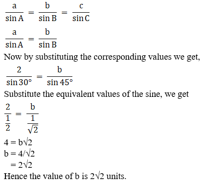 RD Sharma Solutions for Class 11 Maths Chapter 10 – Sine and Cosine Formulae and their Applications image - 2