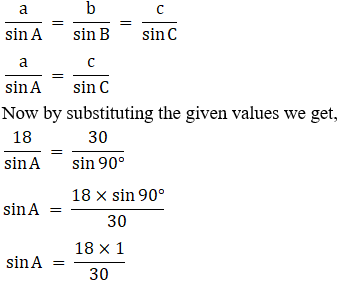 RD Sharma Solutions for Class 11 Maths Chapter 10 – Sine and Cosine Formulae and their Applications image - 3