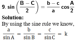 RD Sharma Solutions for Class 11 Maths Chapter 10 – Sine and Cosine Formulae and their Applications image - 26