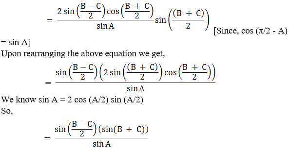 RD Sharma Solutions for Class 11 Maths Chapter 10 – Sine and Cosine Formulae and their Applications image - 28