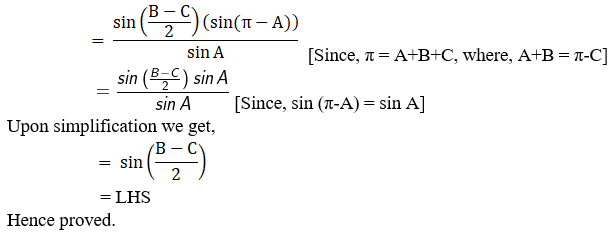 RD Sharma Solutions for Class 11 Maths Chapter 10 – Sine and Cosine Formulae and their Applications image - 29