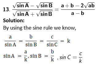 RD Sharma Solutions for Class 11 Maths Chapter 10 – Sine and Cosine Formulae and their Applications image - 34