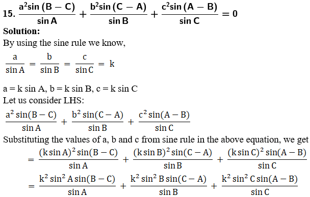 RD Sharma Solutions for Class 11 Maths Chapter 10 – Sine and Cosine Formulae and their Applications image - 37
