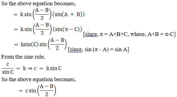 RD Sharma Solutions for Class 11 Maths Chapter 10 – Sine and Cosine Formulae and their Applications image - 10