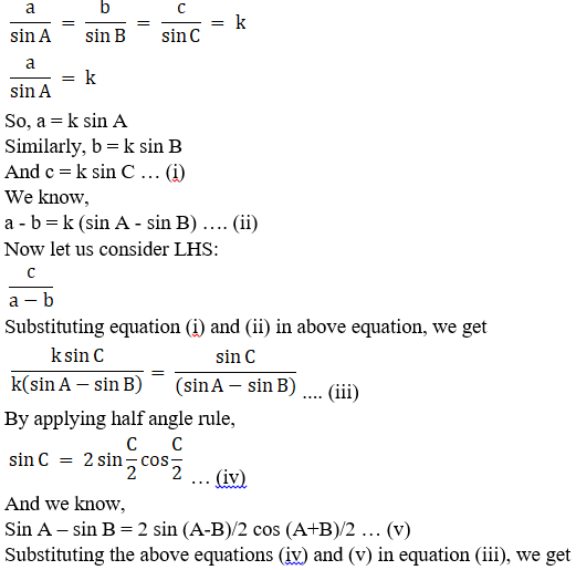RD Sharma Solutions for Class 11 Maths Chapter 10 – Sine and Cosine Formulae and their Applications image - 12
