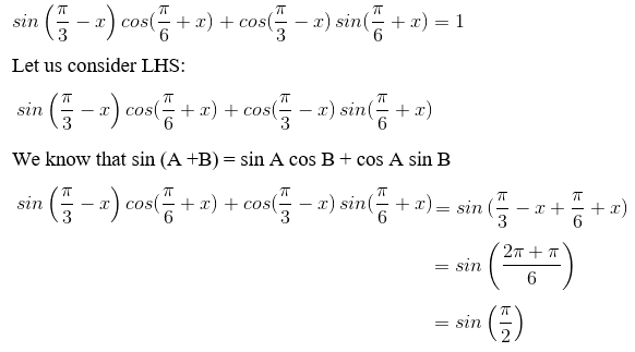 RD Sharma Solutions for Class 11 Maths Chapter 7 – Values of Trigonometric Functions at Sum or Difference of Angles image- 5