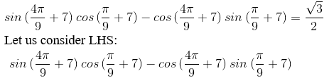 RD Sharma Solutions for Class 11 Maths Chapter 7 – Values of Trigonometric Functions at Sum or Difference of Angles image- 6