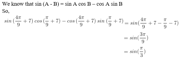 RD Sharma Solutions for Class 11 Maths Chapter 7 – Values of Trigonometric Functions at Sum or Difference of Angles image- 7