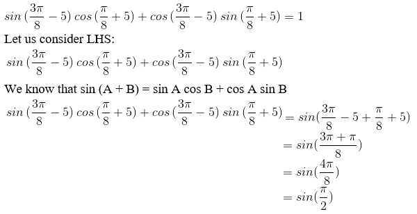 RD Sharma Solutions for Class 11 Maths Chapter 7 – Values of Trigonometric Functions at Sum or Difference of Angles image- 8