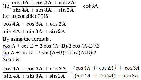 RD Sharma Solutions for Class 11 Maths Chapter 8 – Transformation Formulae image - 19